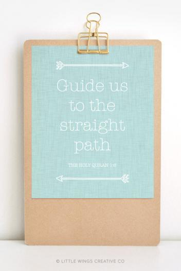 Linen Straight Path Duck Islamic Printable